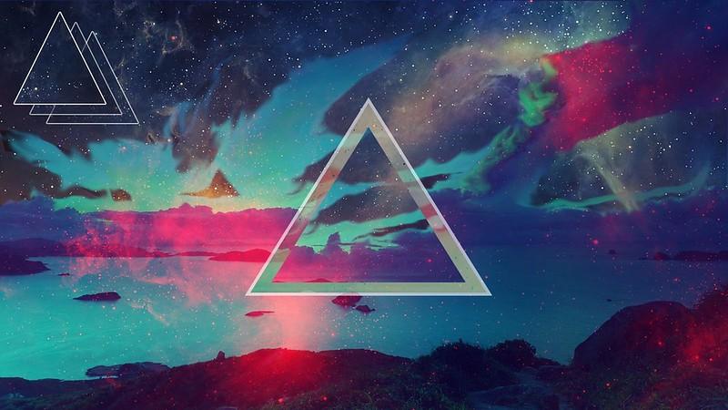 Обои треугольник, фон, темный, пятна картинки на рабочий стол, фото скачать бесплатно