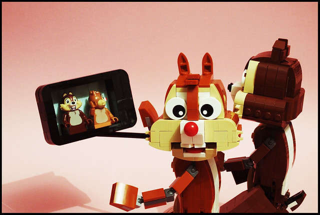 Chip and Dale Selfie