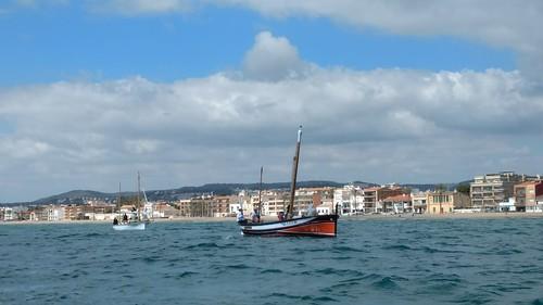 Primera navegada de la Galatzó després de la seva restauració