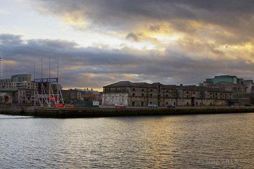 cork river port sea sunset mbe september 2013 city seascape autumn clouds building lee ireland eire colorefexpro4 nik