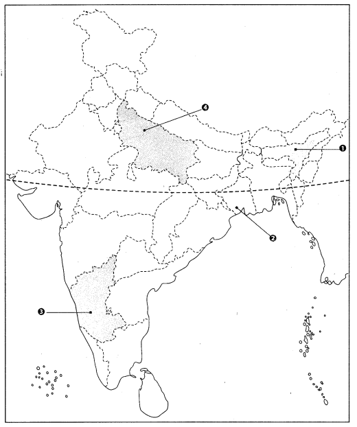 Class 10 Geography Map Work Chapter 4 Agriculture Q9