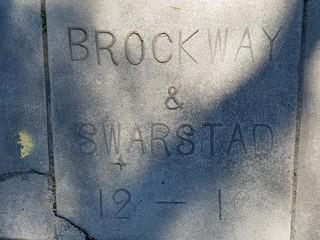 Sidewalk Marker - Brockway & Swarstad - December 1901