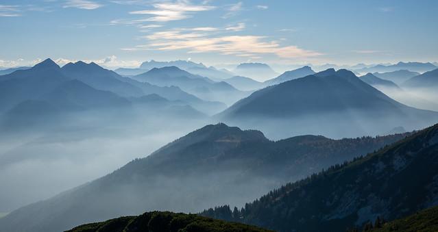 Haze & Mountains