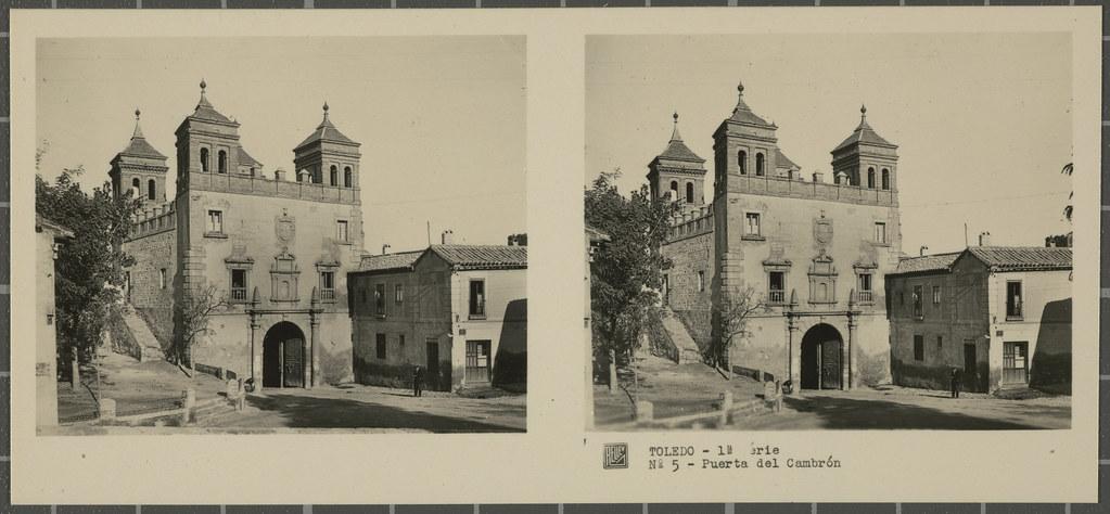Puerta del Cambrón. Colección de fotografía estereoscópica Rellev © Ajuntament de Girona / Col·lecció Museu del Cinema - Tomàs Mallol