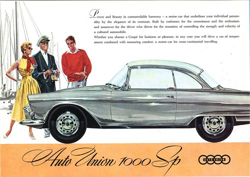1960s Auto Union 1000 vintage advertising | by Static Phil