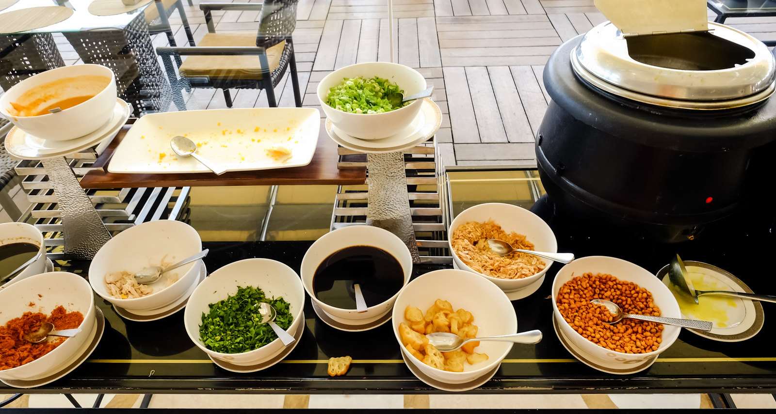 Congee and condiments