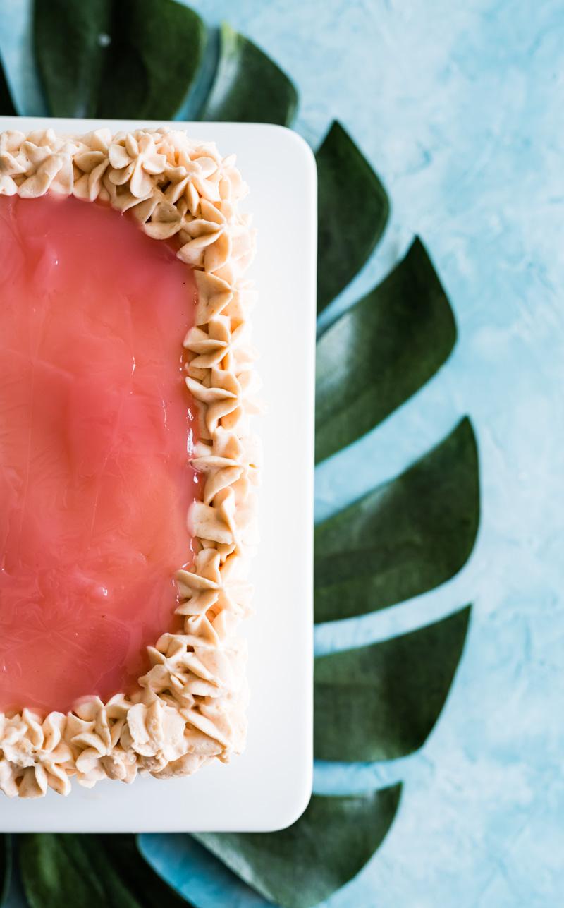 Aloha Kitchen Hawaiian Guava Cake www.pineappleandcoconut.com