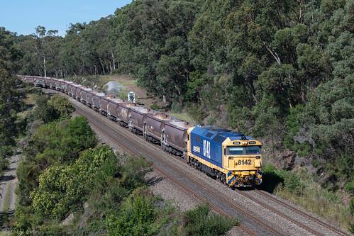 8142 81class emd diesel clyde pn pacificnational stonetrain quarrytrain tahmoor bargoriver 2126 newsouthwales australia au