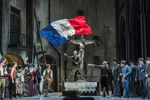Production photo of Faust, The Royal Opera © 2019 ROH. Photograph by Tristram Kenton