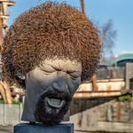 LUKE KELLY SCULPTURE AT GUILD STREET IN THE DOCKLANDS [PHOTOGRAPHED USING A SIGMA 105mm LENS]-148684