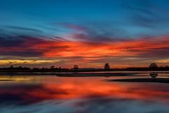 prachtige kleuren zonsondergang