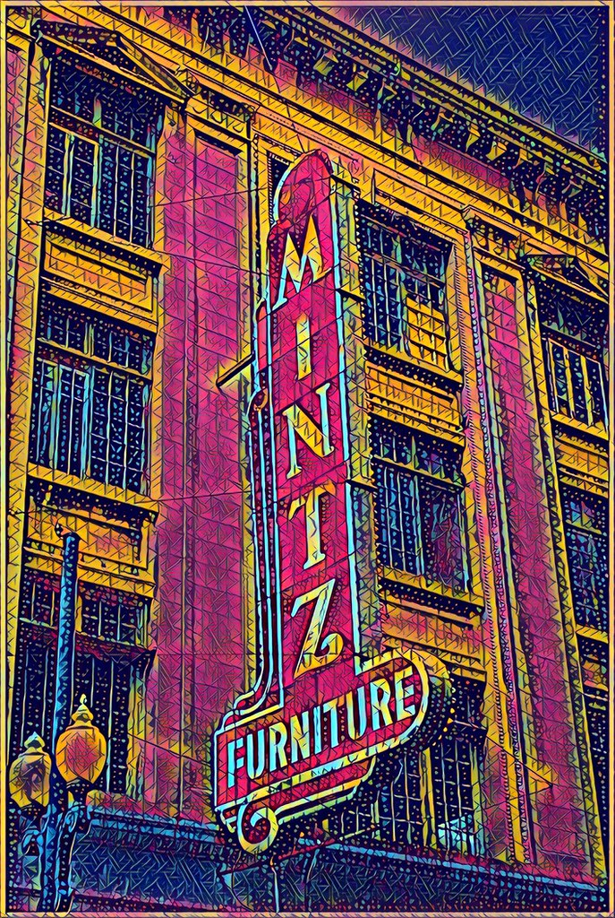 New Orleans Louisiana   Hurwitz Mintz Furniture   Old Neon ...