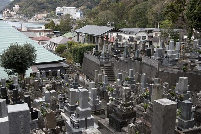 Graves of American Sailors in cemetery, Gyokusen-Ji Temple, Shimoda, Japan 玉泉寺墓所