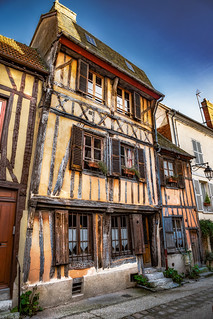 Walking Tour of Vernon: Historical Buildings on Rue Potard (some which have been renovated), Vernon, France-52a