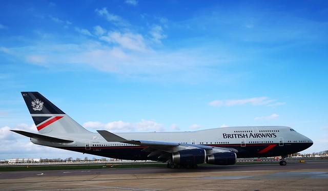 G-BNLY 747-400 BRITISH AIRWAYS LHR SPECIAL LIVERY LANDOR RETRO
