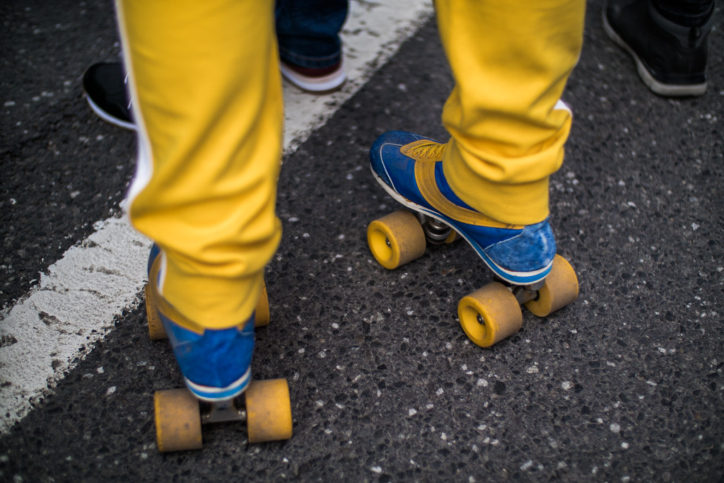 Clip-On Roller Skates For Shoes