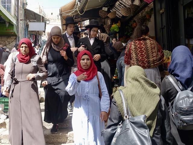 Jews and Muslims, Damascus Gate, Jerusalem