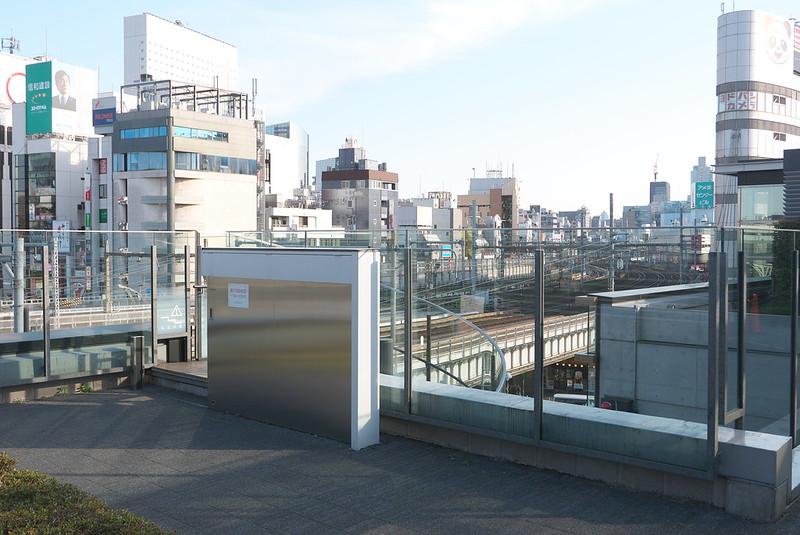 上野公園のトレインビュースポット