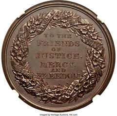 Abolition of Slavery in the Colonies Medal reverse