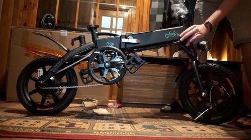 Fiido D1 elektrinis dviratis   ate Xiaomi M365 scooter