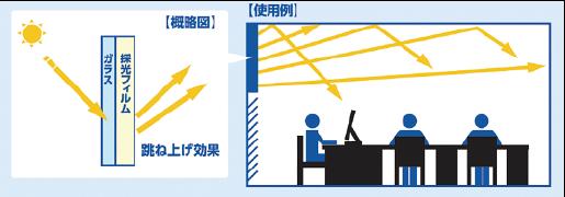 大日本印刷公司的採光薄膜。(出處:官網)