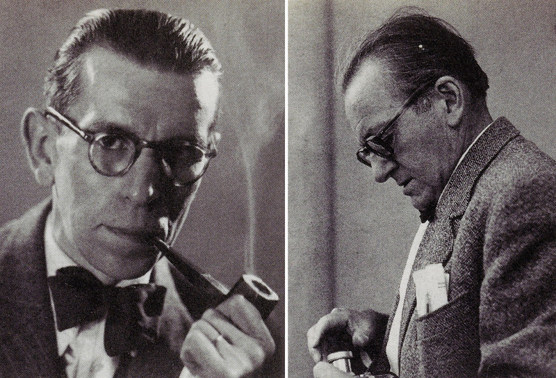 A la izquierda, Théo Blanc. c. 1945–50. (fotógrafo anónimo) © Droits réservés. A la derecha: Antoine Demilly. c. 1940–50. (fotógrafo anónimo) © Julie Picault- Demilly
