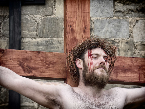 Jesus on cross.   by Ray Duffill