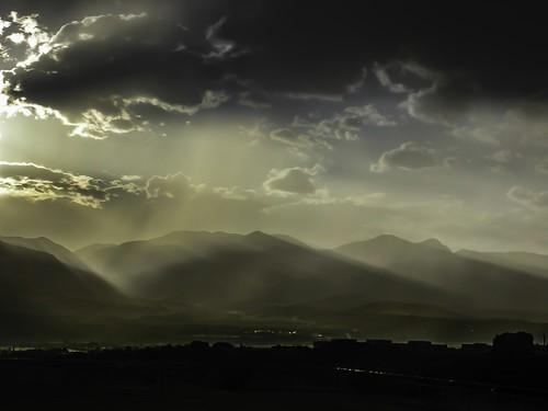 landscapes mountains colorado frontrange mist scenics