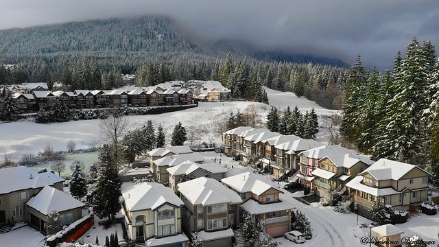 Aerial view of Westwood Plateau. Coquilam, Canada