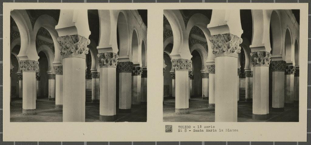 Sinagoga de Santa María la Blanca. Colección de fotografía estereoscópica Rellev © Ajuntament de Girona / Col·lecció Museu del Cinema - Tomàs Mallol