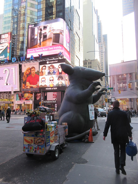 2019 Giant Strike Rat Balloon Corner of 45th St NYC 3694