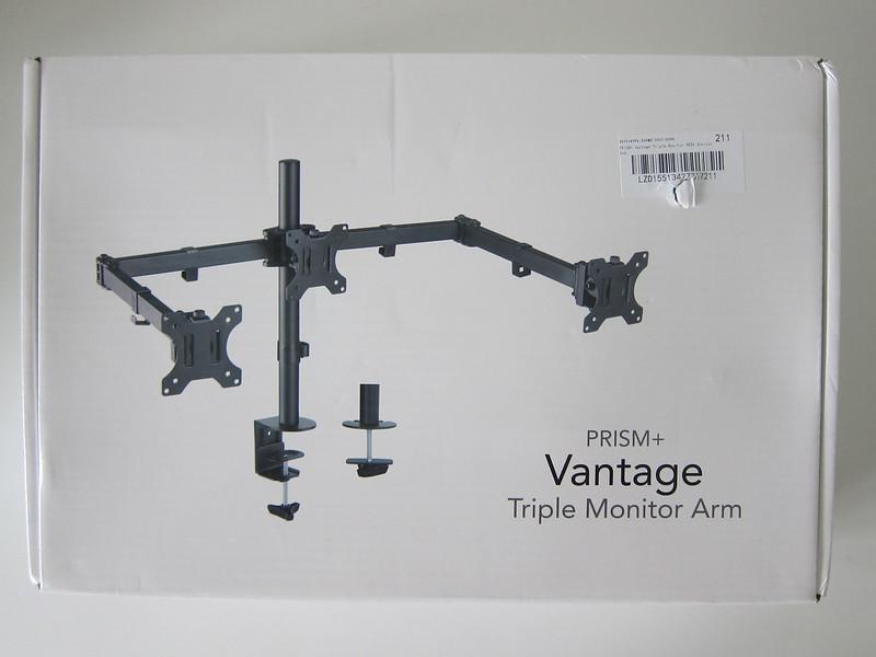 PRISM+ Vantage Triple Monitor VESA Monitor Arm - Box Front
