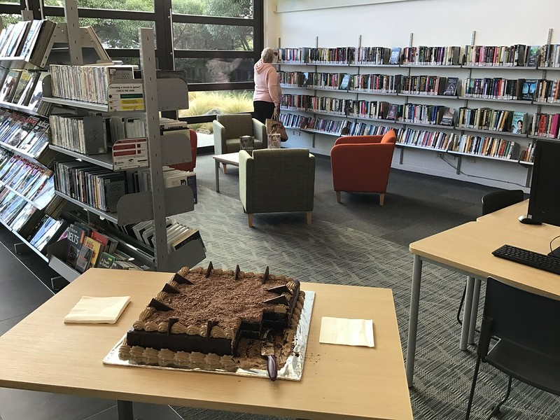 Reopening cake, Parklands Library