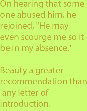 5-1 Beauty he declared to be a greater recommendation than any letter of introduction.
