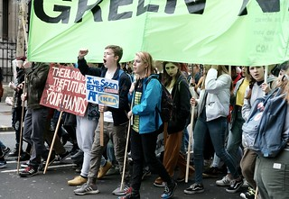 youth protest, global warming, London.