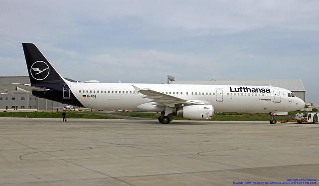 D-AIDB LMML 02-02-2019 Lufthansa Airbus A321-231 CN 4545
