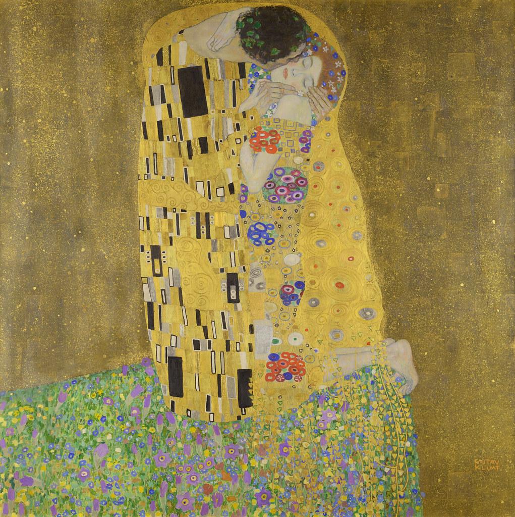 Gustav Klimt (1862–1918), The Kiss (Lovers), 1907–1908