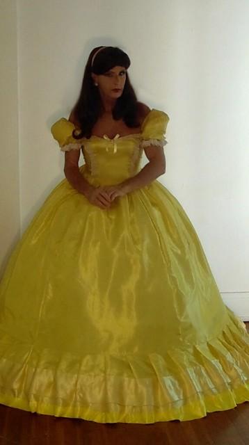 victorian satin ball gown