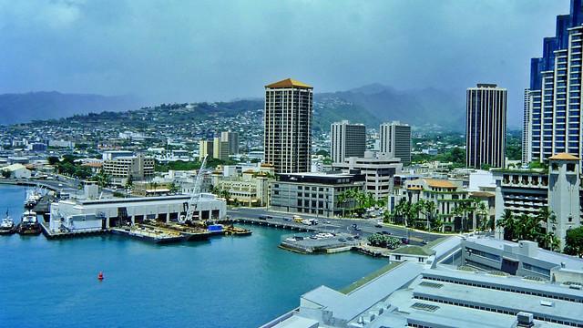 Der Hafen von Honolulu auf Hawaii