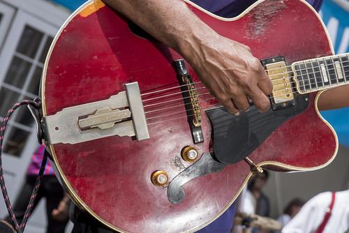 Carl LeBlanc plays French Quarter Fest day 3 on April 13, 2019. Photo by Ryan Hodgson-Rigsbee RHRphoto.com