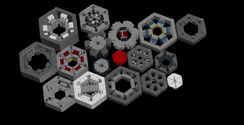 Hexagon madness | LDD file: 1drv ms/u/s!AlP45q4jwLFhmVGiEyOp