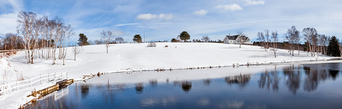orrsisland harpswell maine wilsonspond winter snow panorama