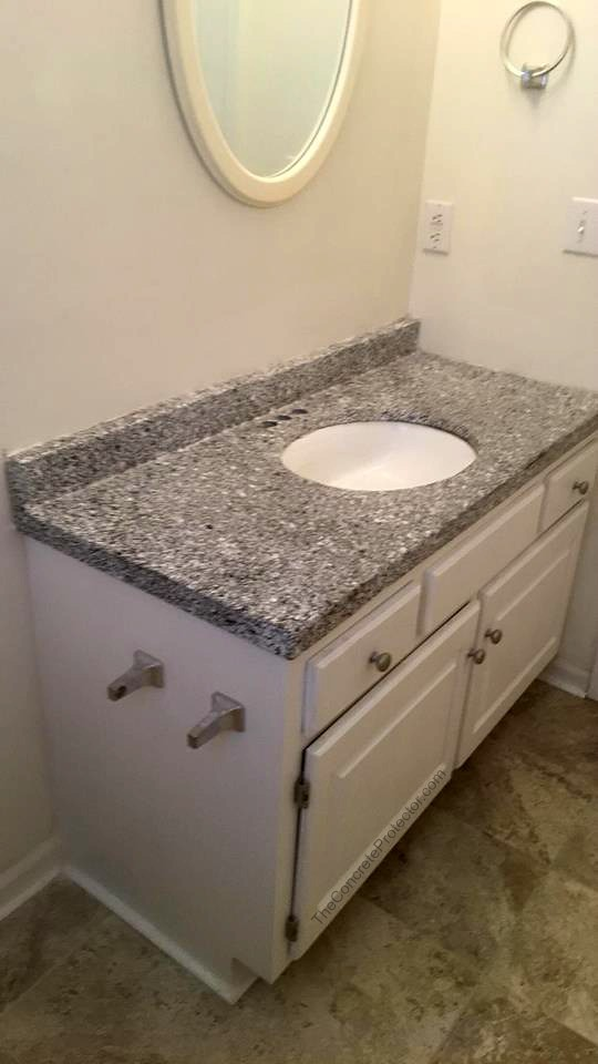 Epoxy Flake Bathroom Sink- Speakman Coatings- Kansas City