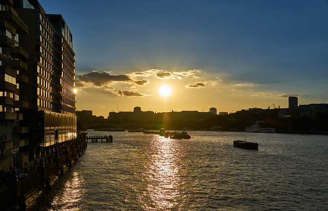 Sunset in London