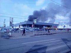 В пожаре у автодилера на Савушкина спаслись 90 человек