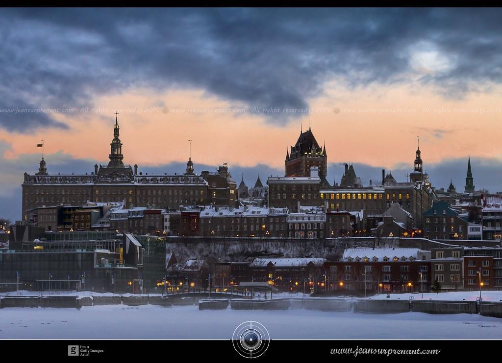 Quebec city after a snowstorm DRI