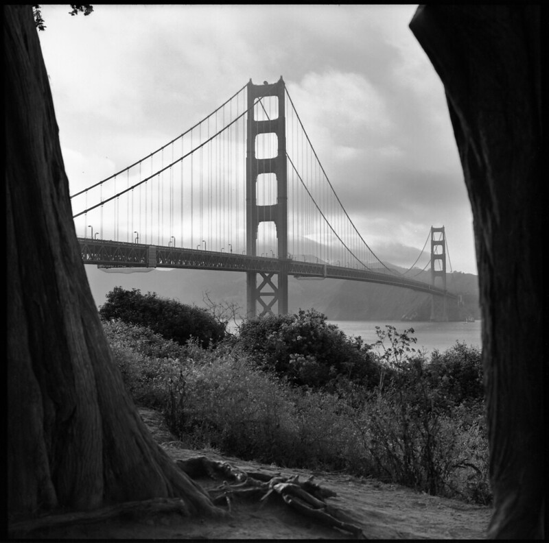 Golden Gate Bridge B&W