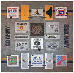 Go Army Sink Navy Quilt by Whimzie Quiltz