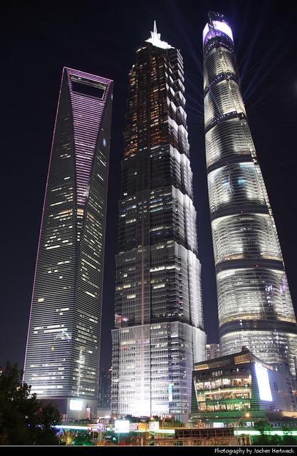 Shanghai Tower, Shanghai World Financial Center & Jin Mao Tower, Shanghai, China