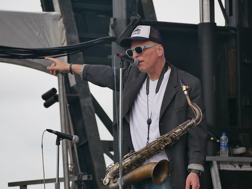 The Iguanas on Day 2 of French Quarter Fest - 4.12.19. Photo by Louis Crispino.